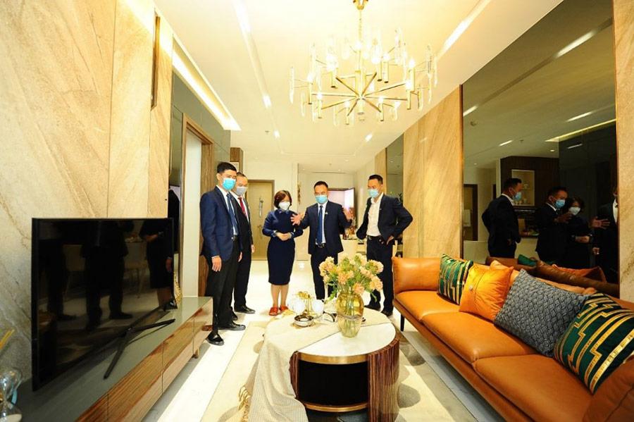Lễ khai trương căn hộ mẫu Opal Skyline được tổ chức sáng ngày 15-8 tại tầng 7 TTTM Gigamall, Thủ Đức, TP HCM